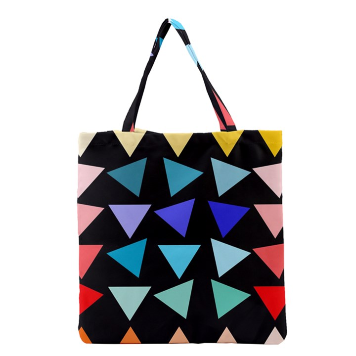 Zappwaits Triangles Grocery Tote Bag