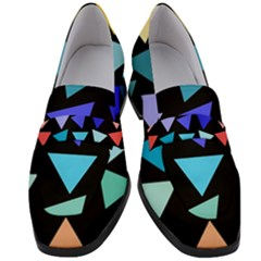 Zappwaits Triangles Women s Chunky Heel Loafers by zappwaits