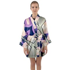 Digital Art 3d Long Sleeve Kimono Robe