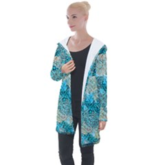 Background Scrapbooking Paper Longline Hooded Cardigan by AnjaniArt