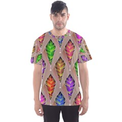 Abstract Background Colorful Leaves Men s Sports Mesh Tee by Alisyart