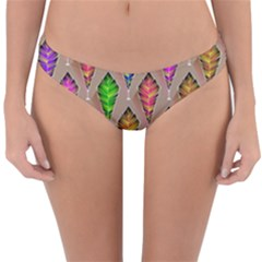 Abstract Background Colorful Leaves Reversible Hipster Bikini Bottoms by Alisyart