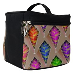 Abstract Background Colorful Leaves Make Up Travel Bag (small)