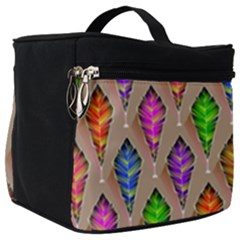 Abstract Background Colorful Leaves Make Up Travel Bag (big) by Alisyart