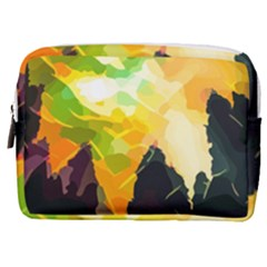 Forest Trees Nature Wood Green Make Up Pouch (medium)