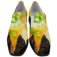 Forest Trees Nature Wood Green Slip On Heel Loafers