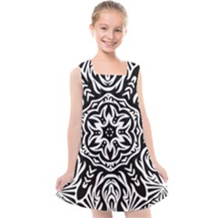 Pattern Star Design Texture Kids  Cross Back Dress