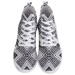 Pattern Tile Repeating Geometric Men s Lightweight High Top Sneakers