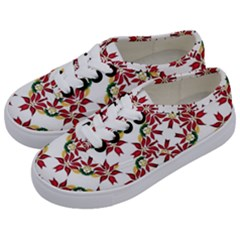 Christmas Wallpaper Background Kids  Classic Low Top Sneakers by Pakrebo