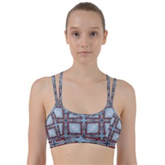 Pattern Cross Geometric Shape Line Them Up Sports Bra