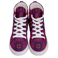 Backdrop Background Cloth Colorful Women s Hi Top Skate Sneakers