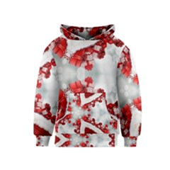 Christmas Background Tile Gifts Kids  Pullover Hoodie