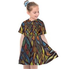 Stained Glass Window Glass Colorful Kids  Sailor Dress