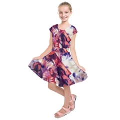 Flowers Bouquets Vintage Pop Art Kids  Short Sleeve Dress