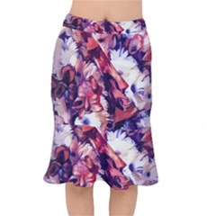 Flowers Bouquets Vintage Pop Art Mermaid Skirt