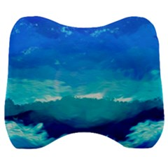 Blue Sky Artwork Drawing Painting Velour Head Support Cushion