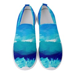 Blue Sky Artwork Drawing Painting Women s Slip On Sneakers