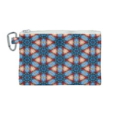 Pattern Tile Background Seamless Canvas Cosmetic Bag (medium)