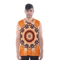 Abstract Kaleidoscope Colorful Men s Basketball Tank Top