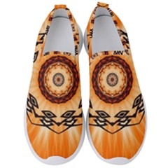 Abstract Kaleidoscope Colorful Men s Slip On Sneakers