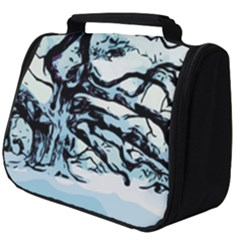 Tree Winter Blue Snow Cold Scene Full Print Travel Pouch (big)