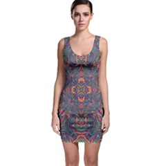 Tile Repeating Colors Texture Bodycon Dress by Pakrebo
