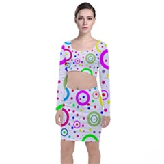Round Abstract Design Top And Skirt Sets