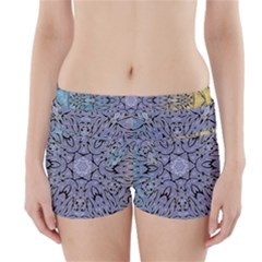Tile Design Art Mosaic Pattern Boyleg Bikini Wrap Bottoms