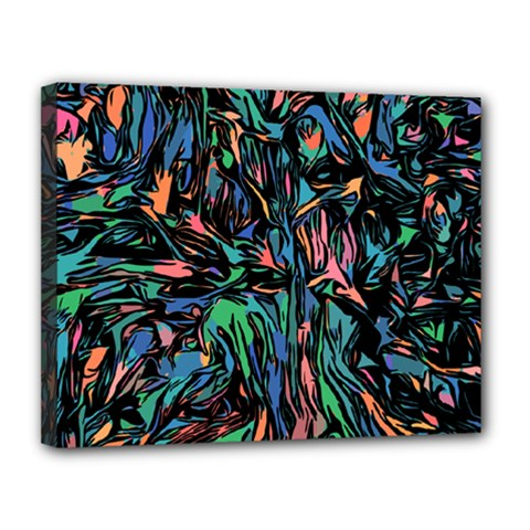 Tree Forest Abstract Forrest Canvas 14  X 11  (stretched)