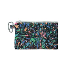 Tree Forest Abstract Forrest Canvas Cosmetic Bag (small)