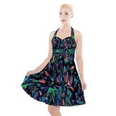 Tree Forest Abstract Forrest Halter Party Swing Dress