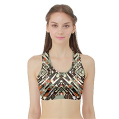 Arabic Backdrop Background Cloth Sports Bra With Border