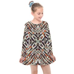 Arabic Backdrop Background Cloth Kids  Long Sleeve Dress