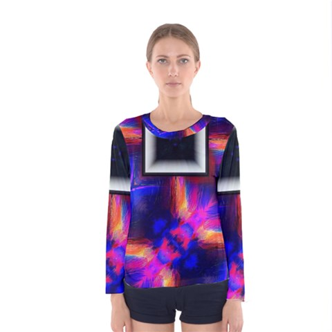 Box Abstract Frame Square Women s Long Sleeve Tee by Pakrebo