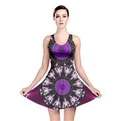 Kaleidoscope Round Circle Geometry Reversible Skater Dress