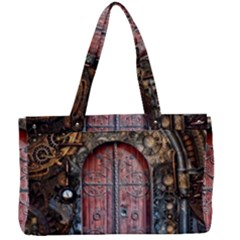 Steampunk Gears Pipes Brass Door Canvas Work Bag
