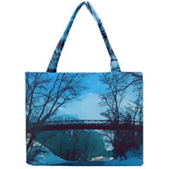 Bridge Trees Walking Nature Road Mini Tote Bag by Pakrebo