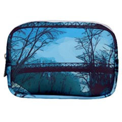 Bridge Trees Walking Nature Road Make Up Pouch (small)