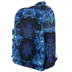 Background Blue Flower Classic Backpack