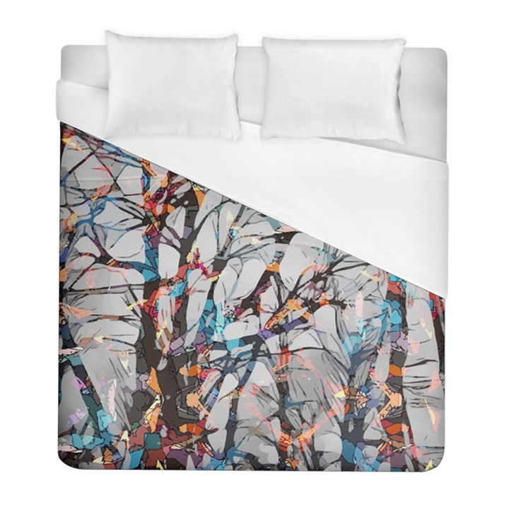 Forest Abstract Artwork Colorful Duvet Cover (Full/ Double Size)