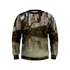 Sea Fortress Lake Reflection Sky Kids  Sweatshirt