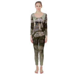 Sea Fortress Lake Reflection Sky Long Sleeve Catsuit