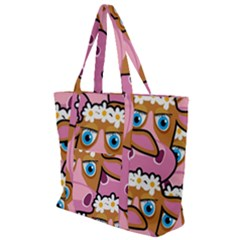 Pink Cows Zip Up Canvas Bag
