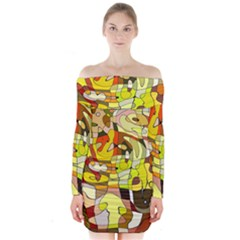 Ml 98 Long Sleeve Off Shoulder Dress by ArtworkByPatrick