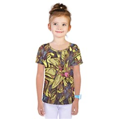 Lilies Abstract Flowers Nature Kids  One Piece Tee