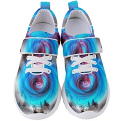 Abstract Kaleidoscope Pattern Women s Velcro Strap Shoes
