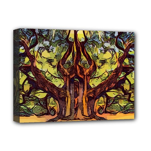 Tree Monster Maestro Landscape Deluxe Canvas 16  X 12  (stretched)