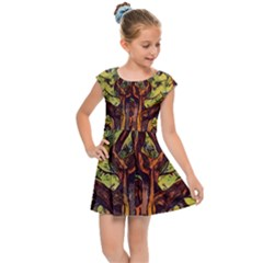 Tree Monster Maestro Landscape Kids  Cap Sleeve Dress