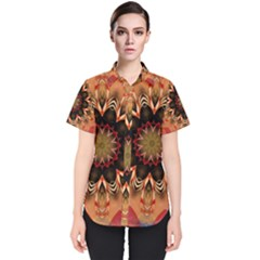 Abstract Kaleidoscope Design Women s Short Sleeve Shirt