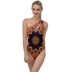 Abstract Kaleidoscope Design To One Side Swimsuit